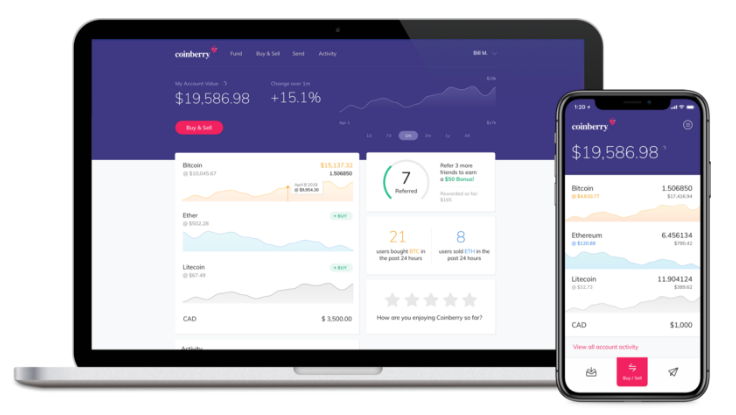Coinberry Interface